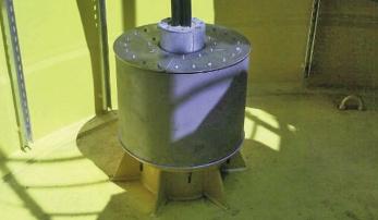Druckdichte Kabelabdichtung für 33 KV Seekabel als Übergang im unteren Teil des Turmes
