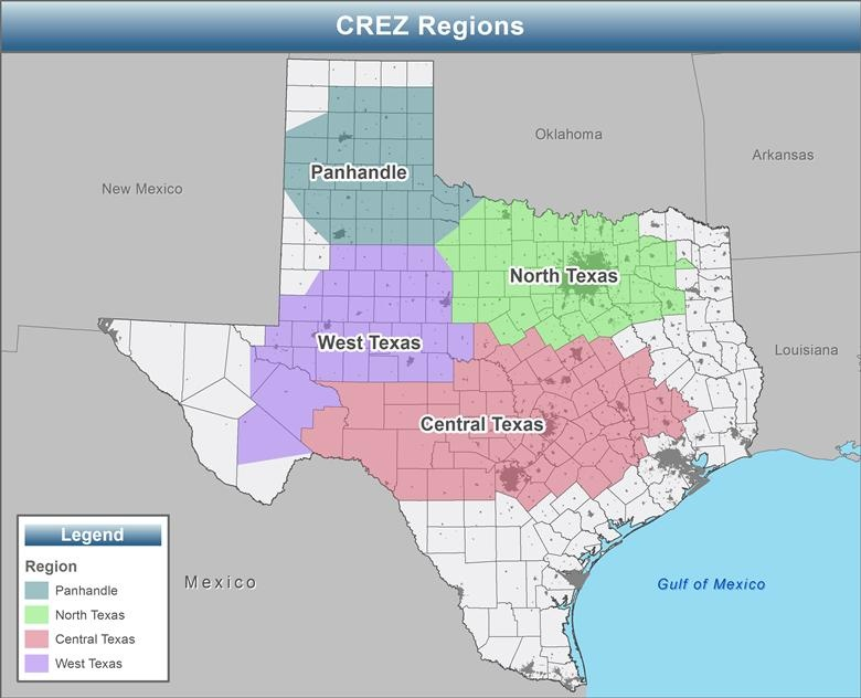 CREZ Transmission Projects send wind power from remote West Texas to