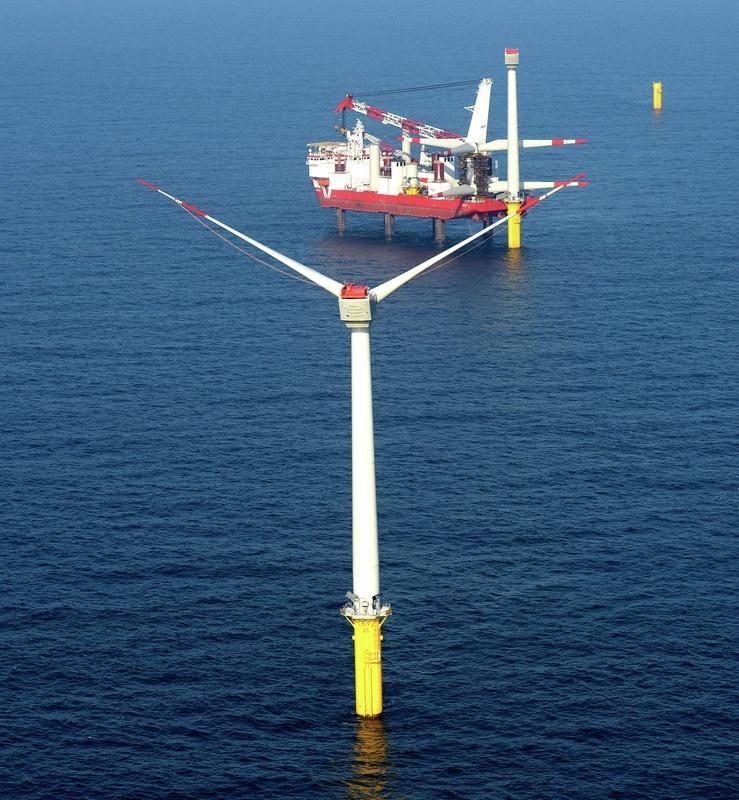 erste areva windkraftanlagen im stadtwerke windpark sind