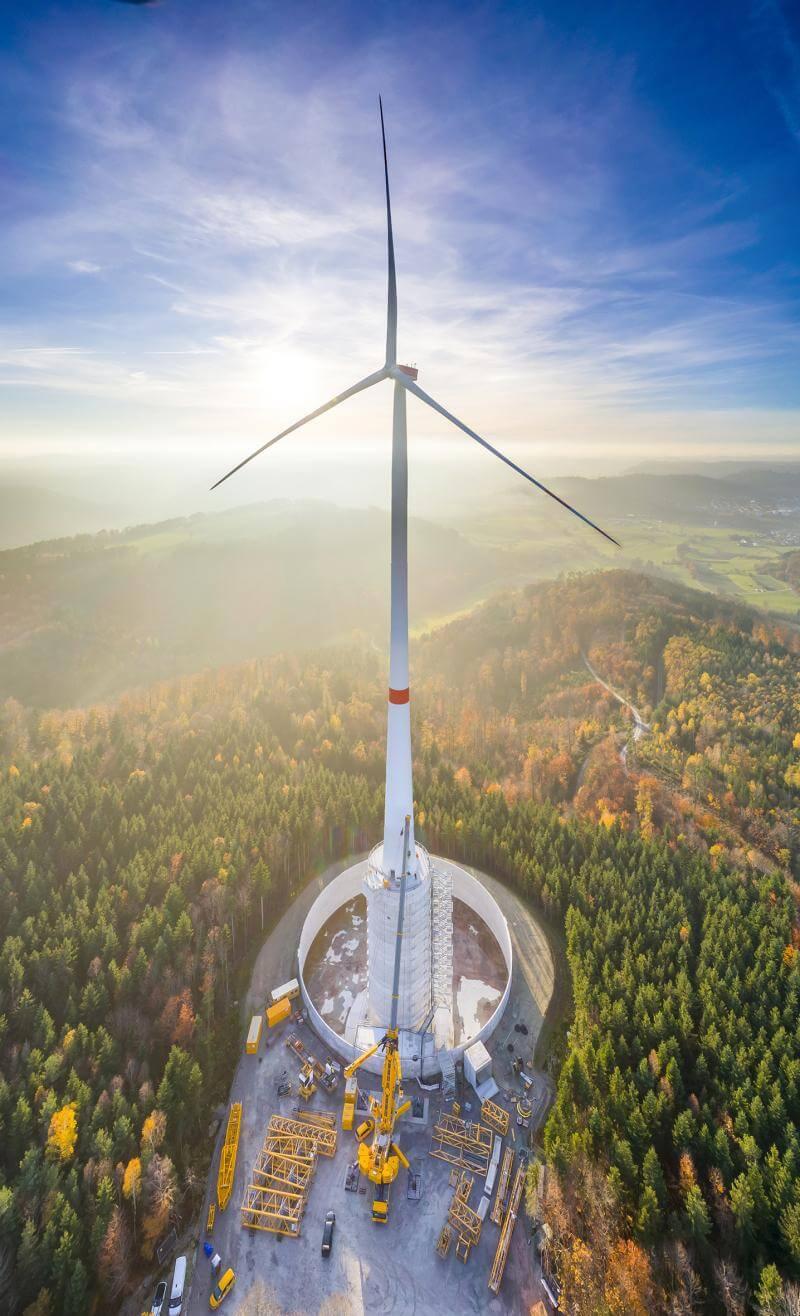 Höchste Windkraftanlage