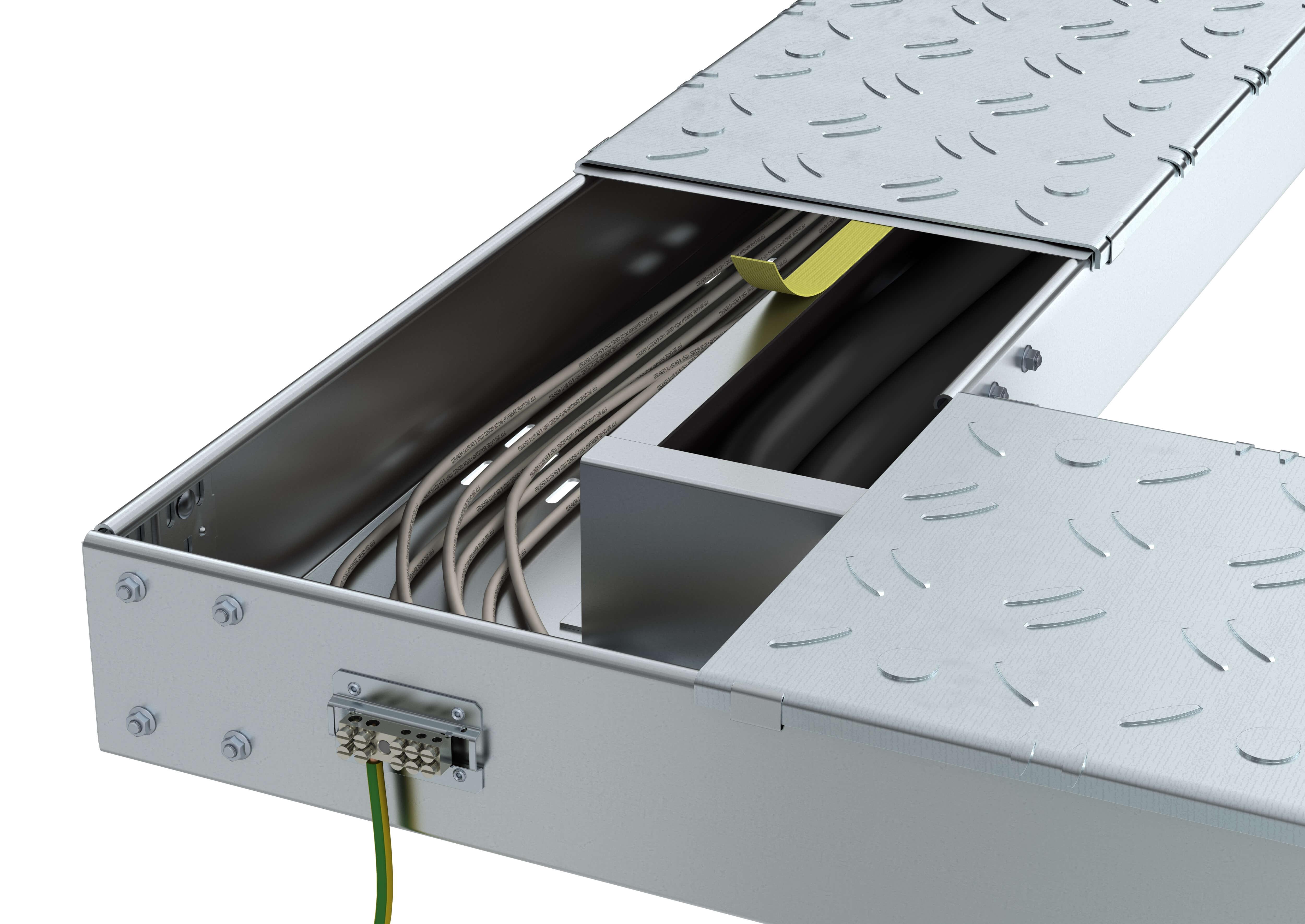 mehr sicherheit f r begehbares kabelrinnensystem bkrs. Black Bedroom Furniture Sets. Home Design Ideas